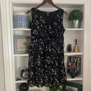 Hot Topic Blue and Purple Floral Dress